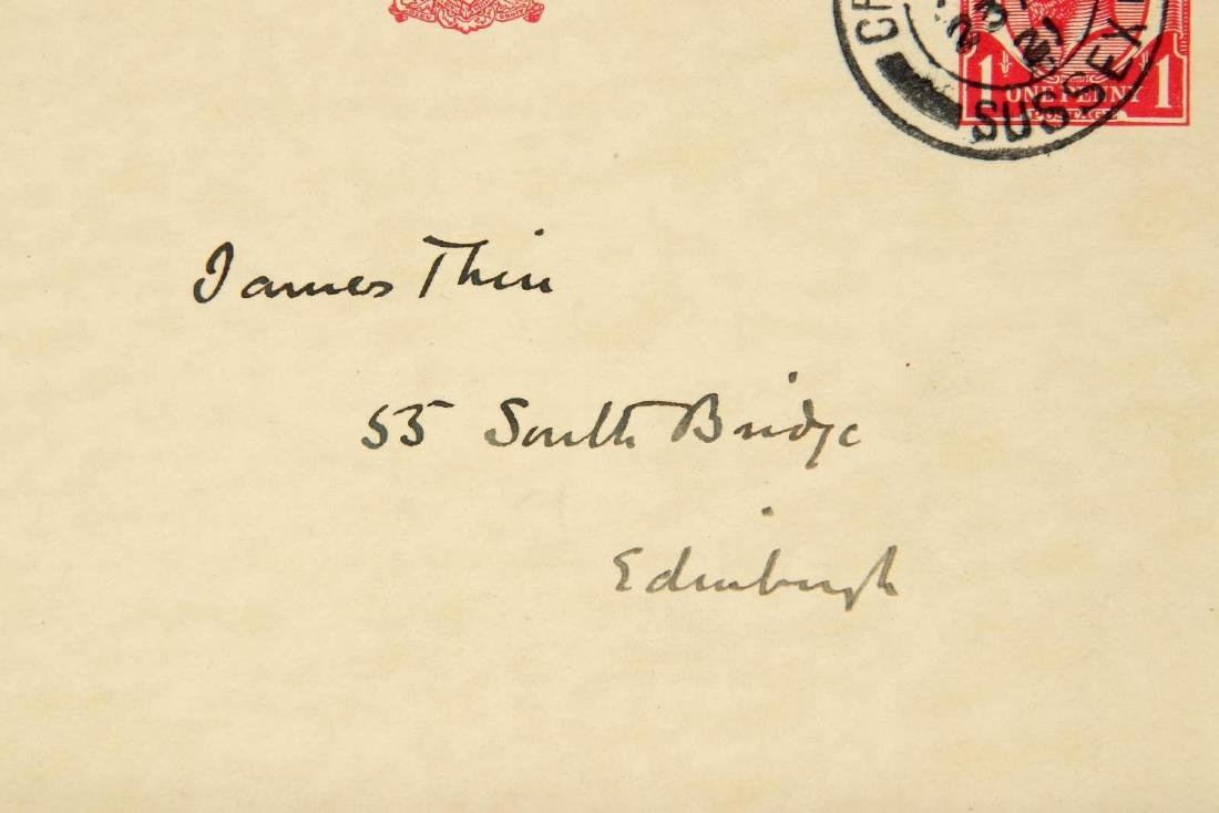 HANDWRITTEN POSTCARD BY ARTHUR CONAN DOYLE - 7