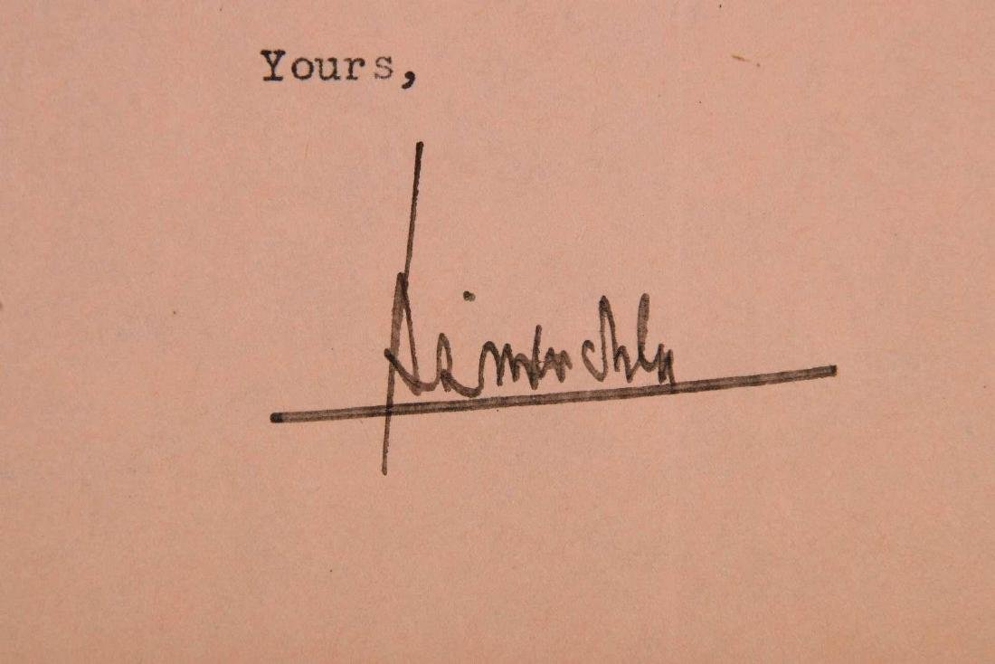 LETTER SIGNED BY H.L. MENCKEN - 2