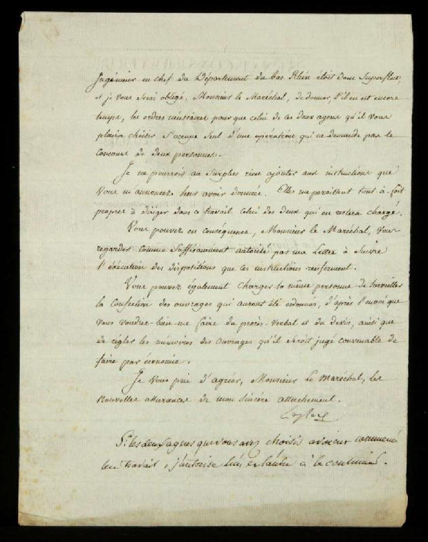1803 LETTER SIGNED BY PIERRE-SIMON LAPLACE - 4