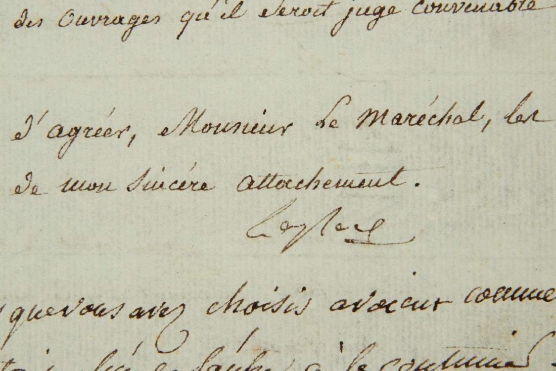 1803 LETTER SIGNED BY PIERRE-SIMON LAPLACE - 7