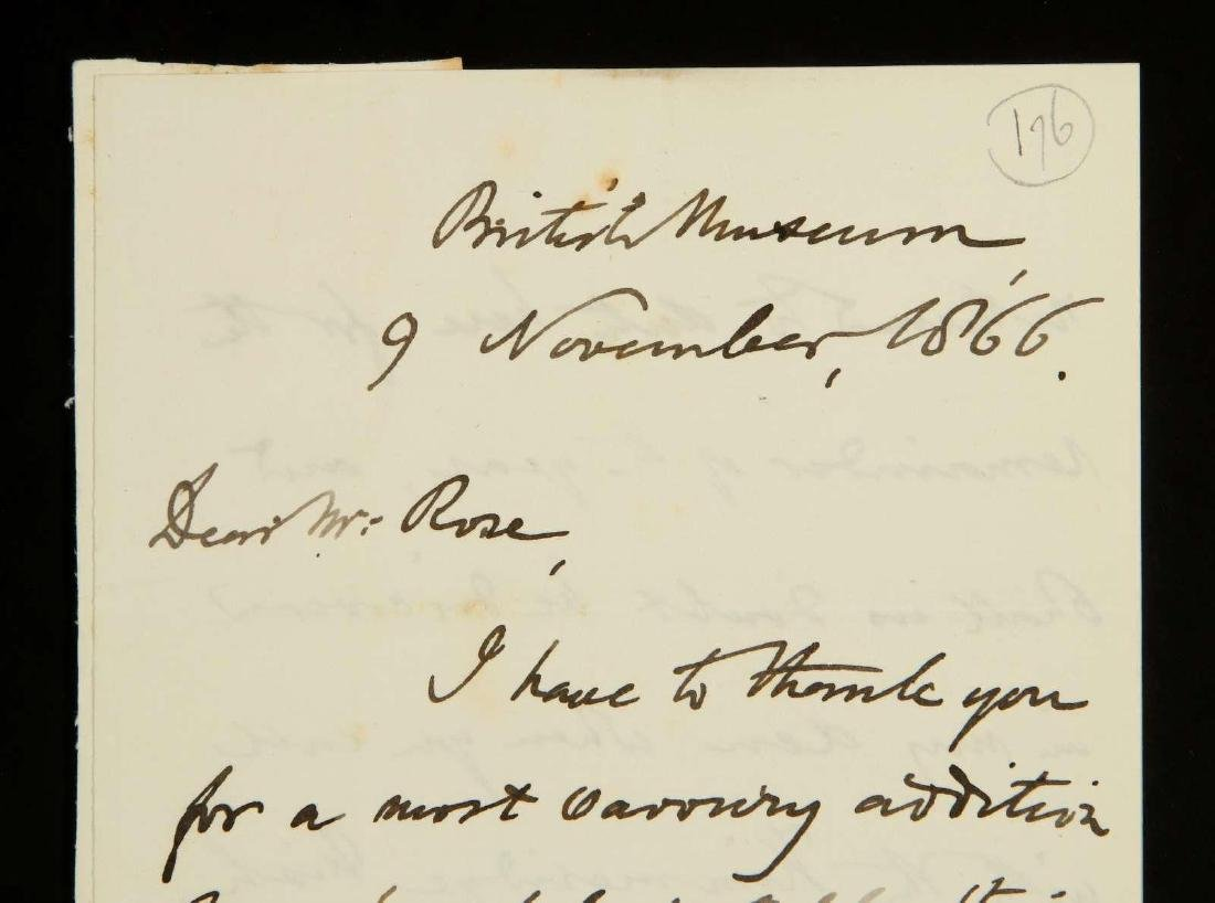 HANDWRITTEN LETTER BY RICHARD OWEN - 2