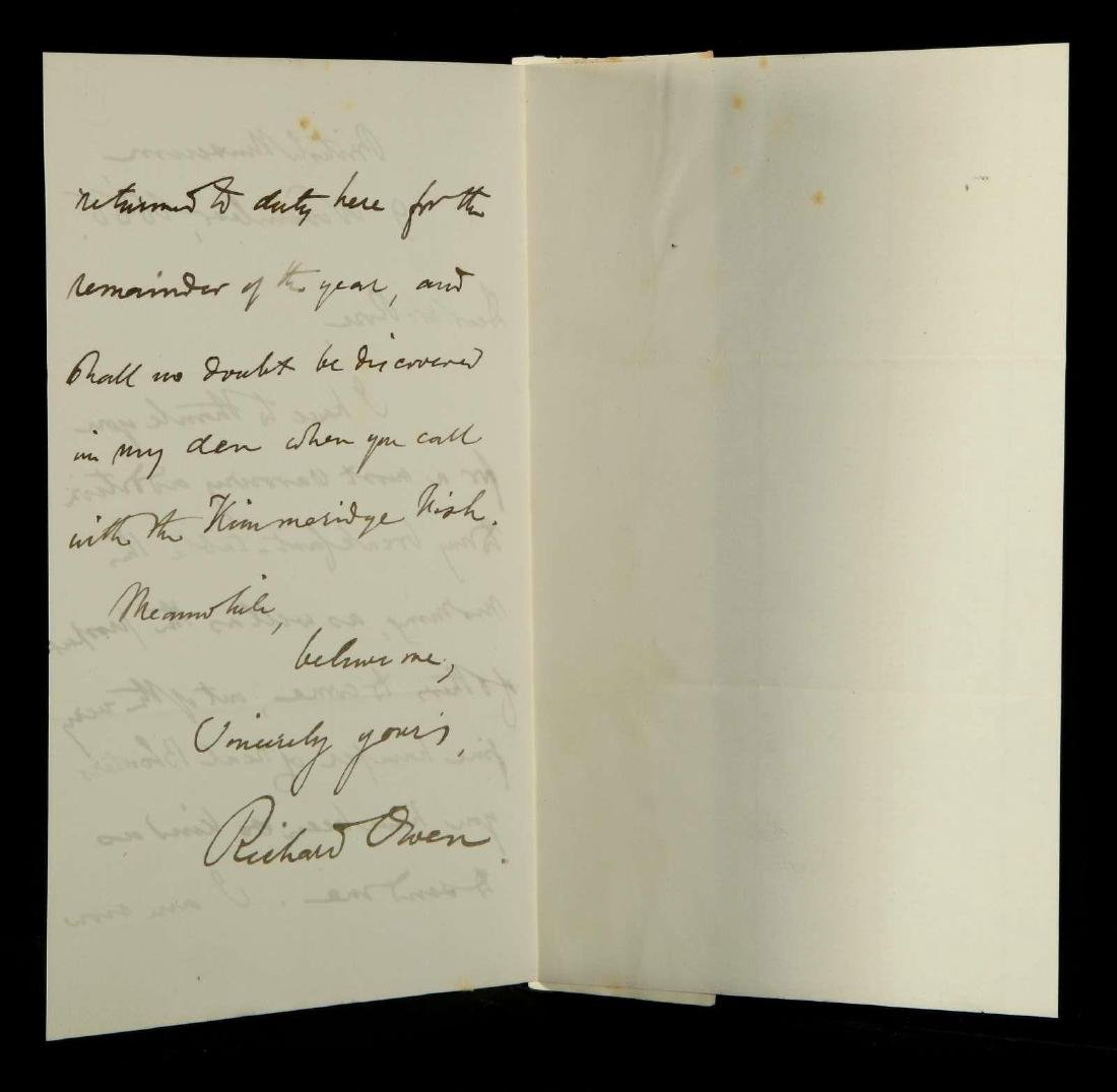 HANDWRITTEN LETTER BY RICHARD OWEN - 5