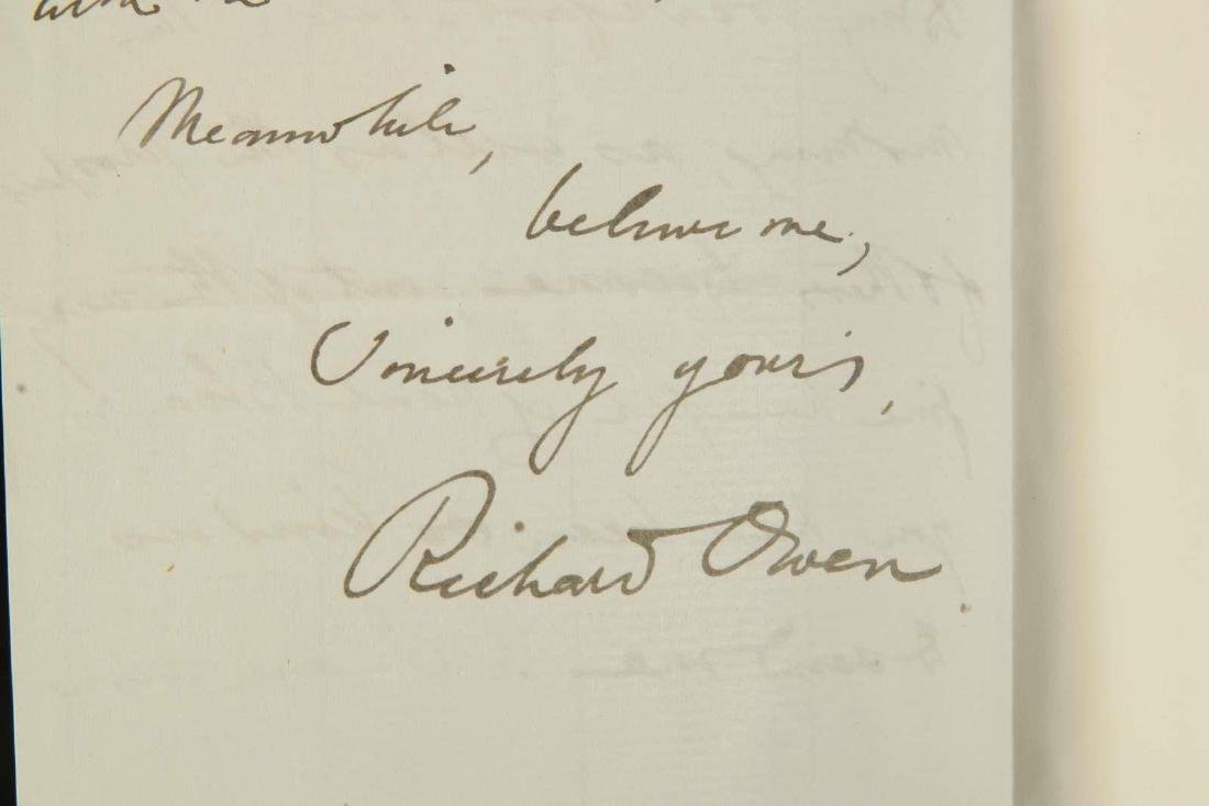 HANDWRITTEN LETTER BY RICHARD OWEN - 6