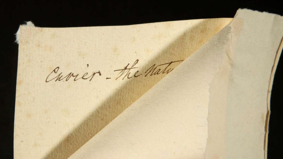 SIGNED TICKET OR PASS BY GEORGES CUVIER - 5