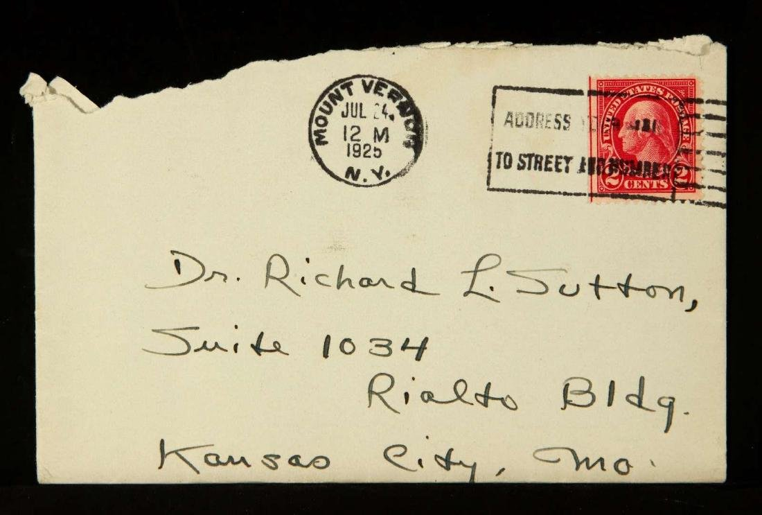 HANDWRITTEN LETTER BY SINCLAIR LEWIS - 2