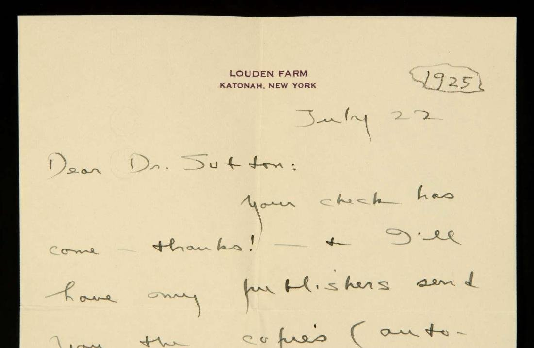 HANDWRITTEN LETTER BY SINCLAIR LEWIS - 3