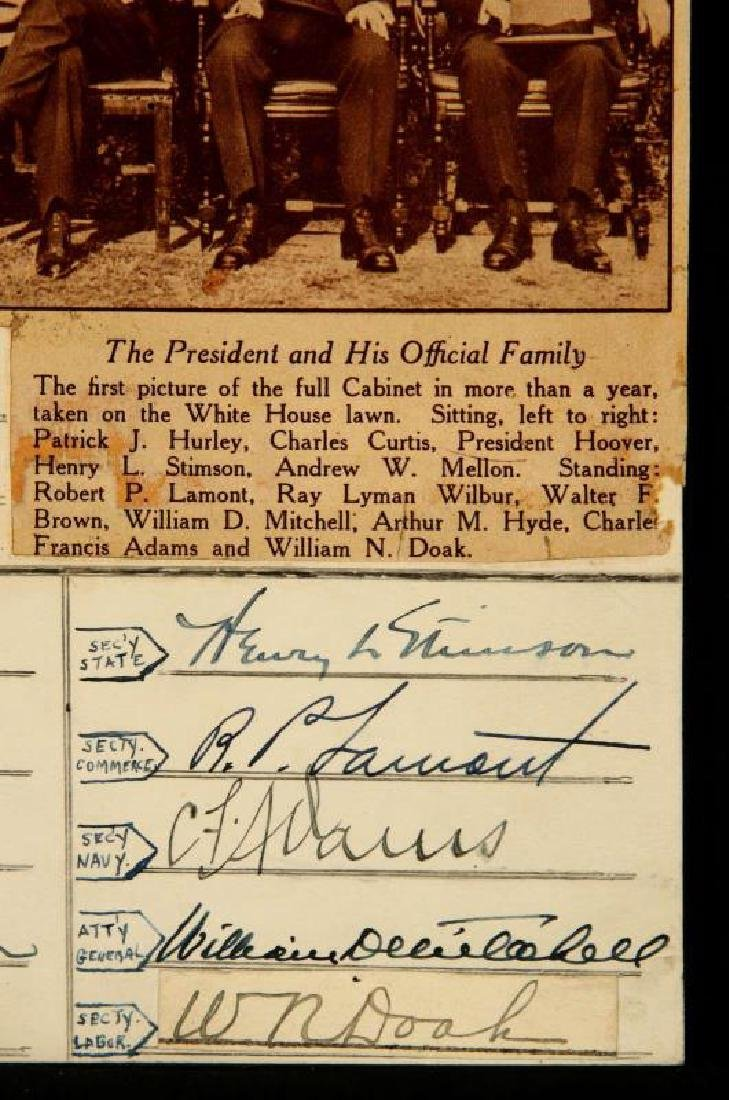 SIGNATURES OF PRES. HERBERT HOOVER AND CABINET - 4