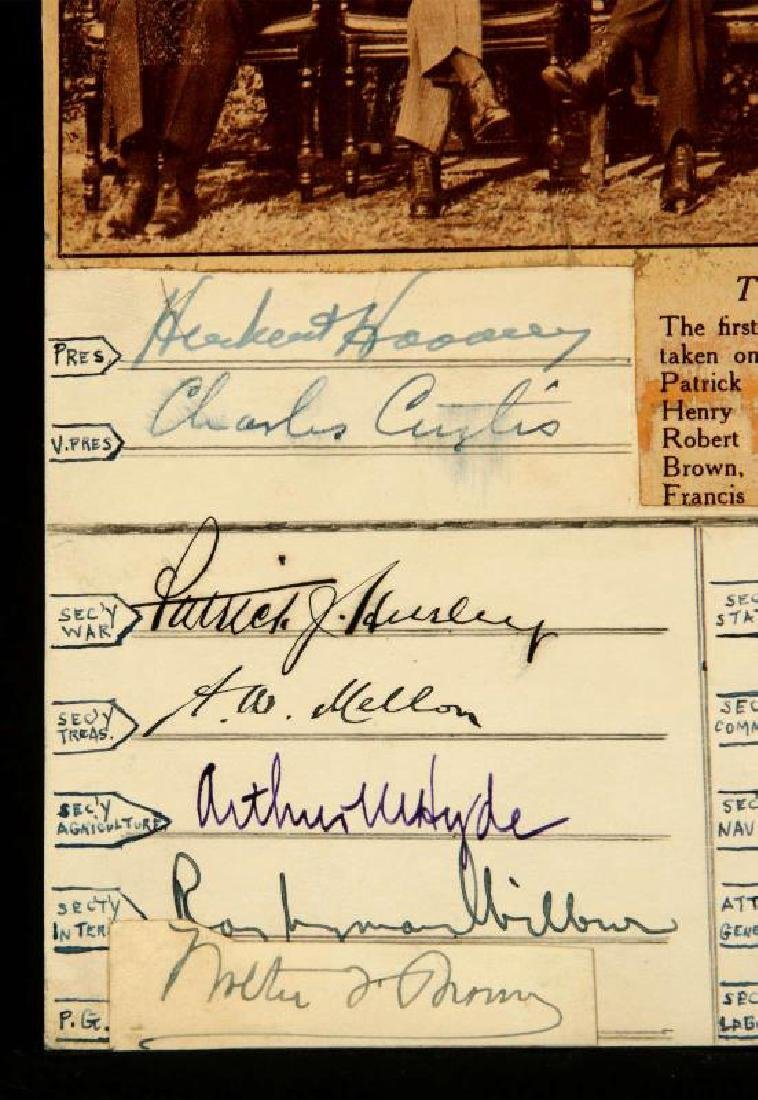 SIGNATURES OF PRES. HERBERT HOOVER AND CABINET - 5