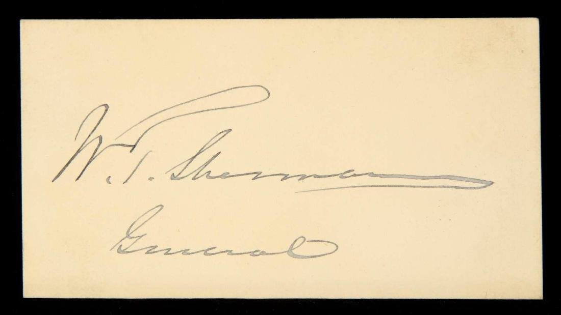 CALLING CARD AND SIGNATURE OF WILLIAM T. SHERMAN - 2