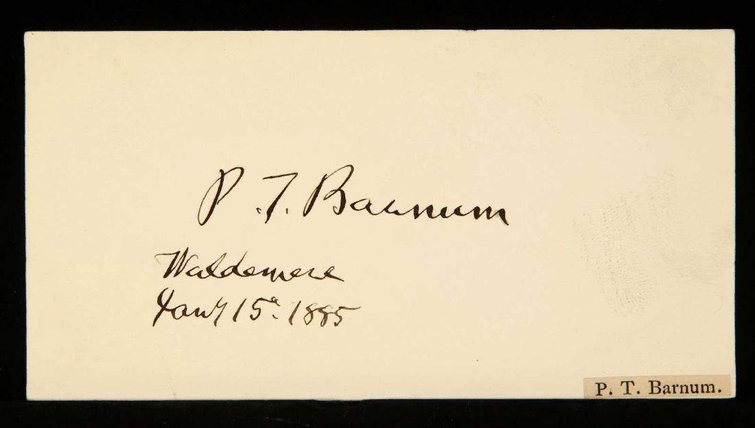 SIGNATURE OF P.T. BARNUM