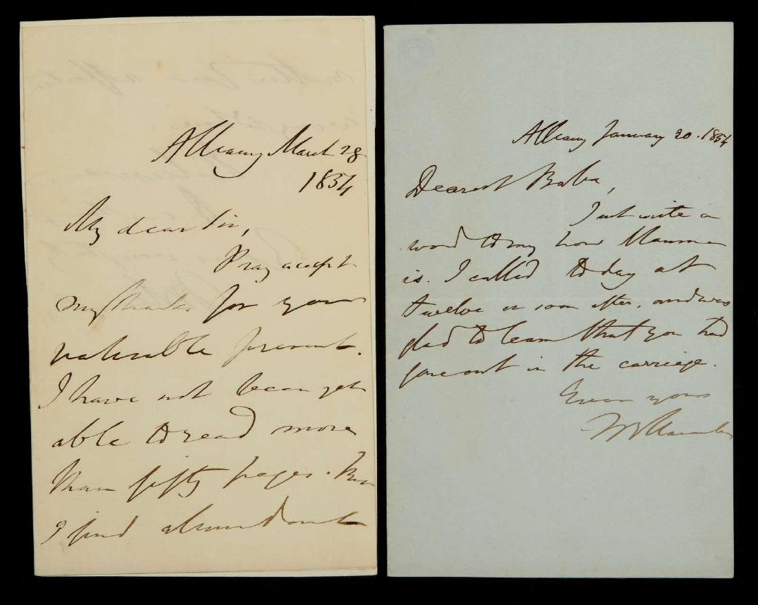 TWO HANDWRITTEN LETTERS BY THOMAS MACAULAY