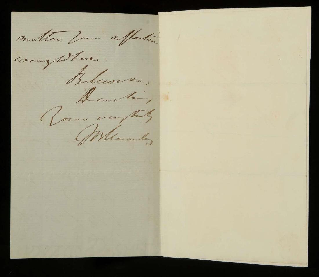 TWO HANDWRITTEN LETTERS BY THOMAS MACAULAY - 6