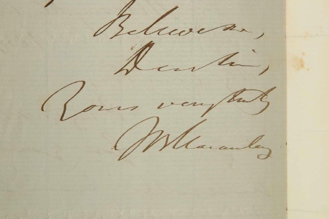 TWO HANDWRITTEN LETTERS BY THOMAS MACAULAY - 7