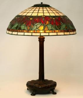 A Tiffany Studios 'chased Pod' Bronze Lamp Base