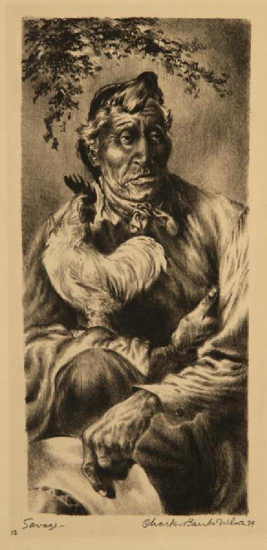 EARLY AND SCARCE CHARLES BANKS WILSON (1918-2013) LITHO