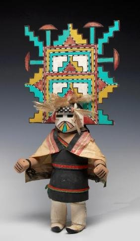 A 20th C. Palik Mana Hopi Cottonwood Kachina