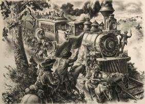 Charles Banks Wilson (1918-2013) Pencil Signed Litho