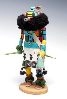 A Late 20th C. Kachina Doll Signed Rodney Banashley