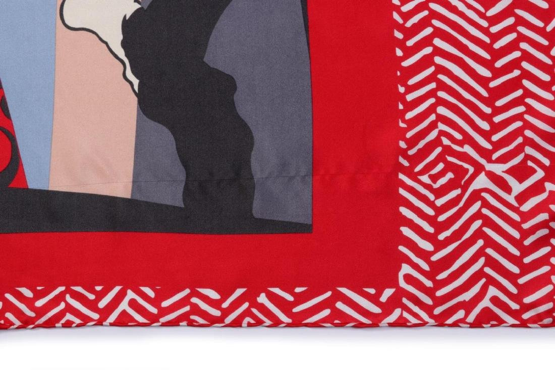 A  SILK SCARF AFTER PICASSO'S PAINTING L'ITALIENNE - 10