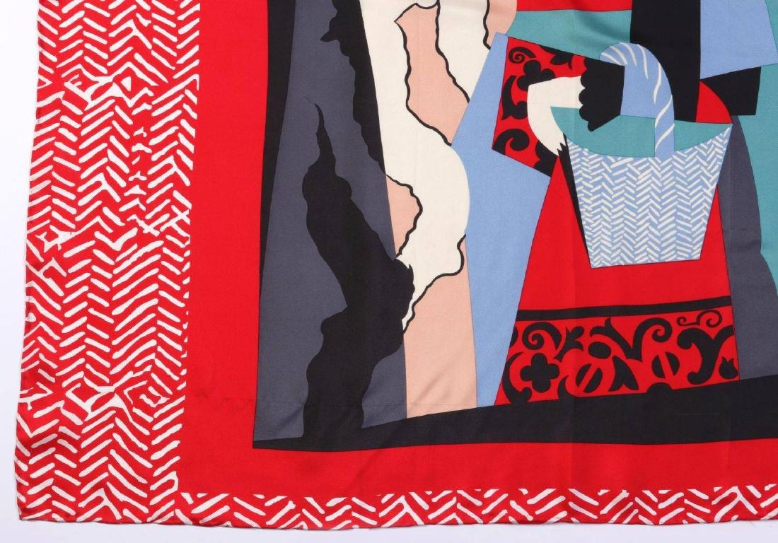 A  SILK SCARF AFTER PICASSO'S PAINTING L'ITALIENNE - 2