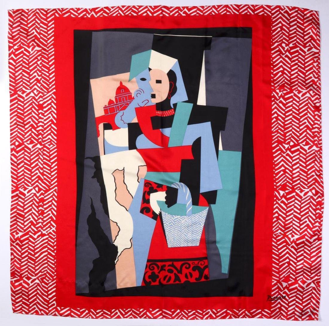 A  SILK SCARF AFTER PICASSO'S PAINTING L'ITALIENNE - 6