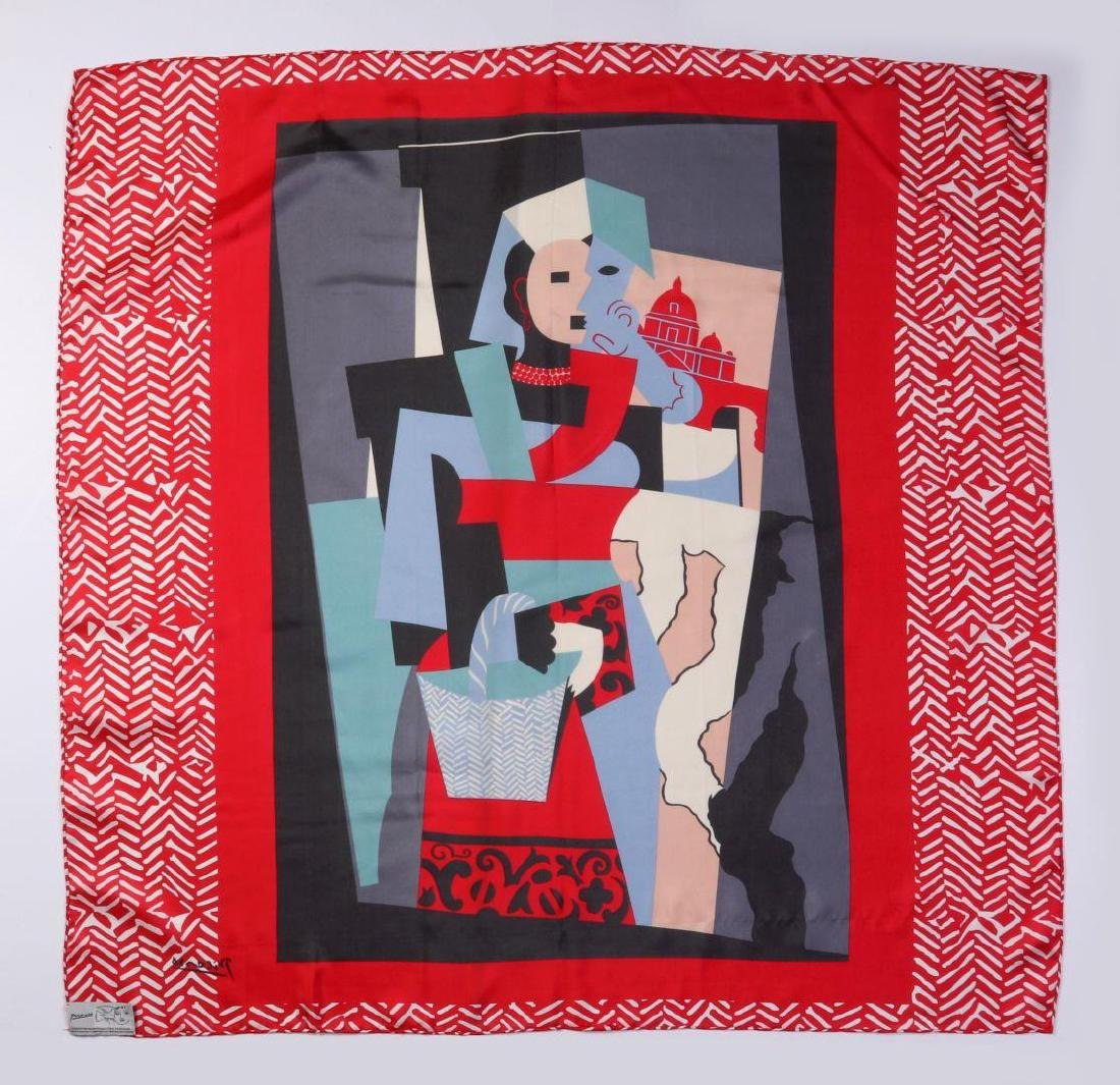 A  SILK SCARF AFTER PICASSO'S PAINTING L'ITALIENNE - 9