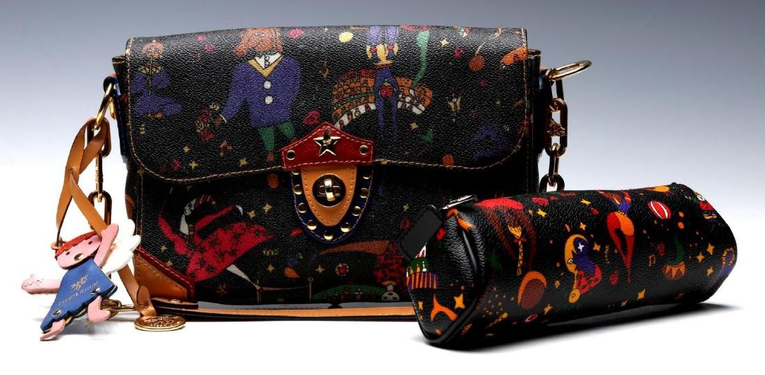 A PIERO GUIDI DESIGNER 'MAGIC CIRCUS' PURSE