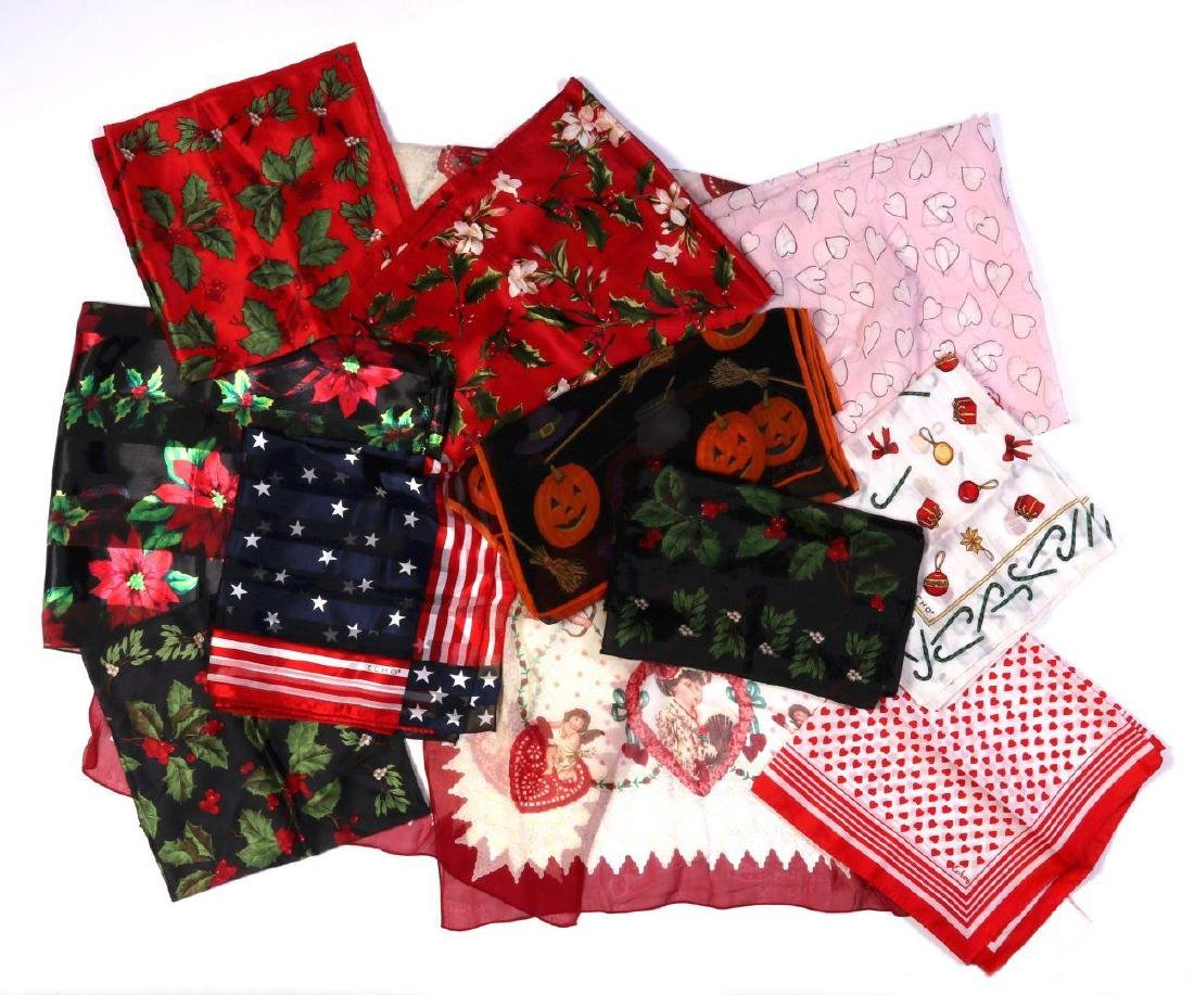 ELEVEN HOLIDAY-THEMED SCARVES