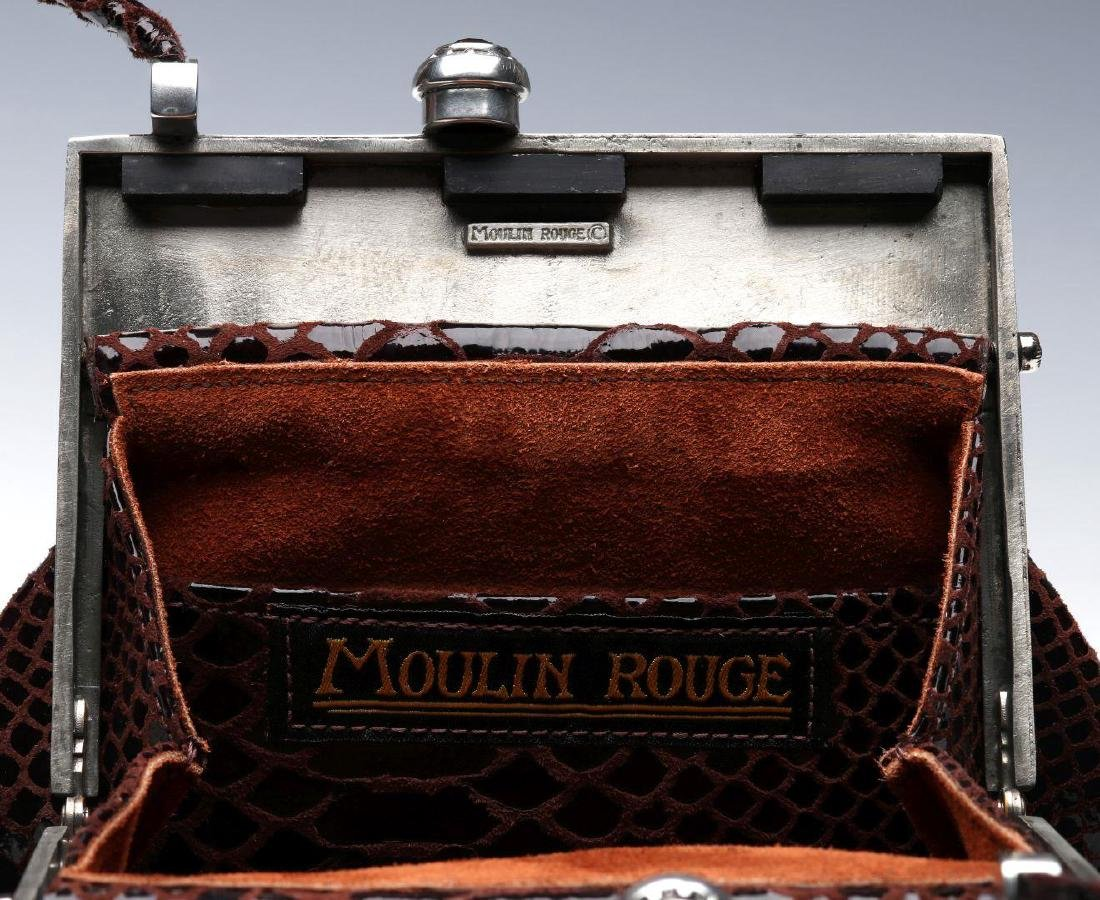 A MOULIN ROUGE EXOTIC LEATHER HANDBAG - 10