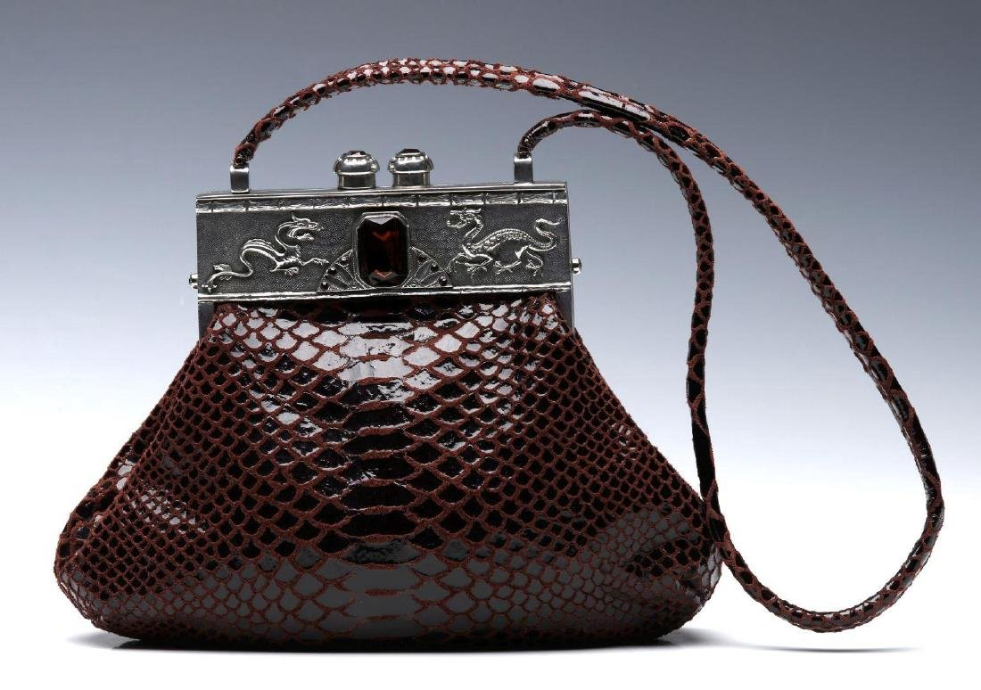 A MOULIN ROUGE EXOTIC LEATHER HANDBAG