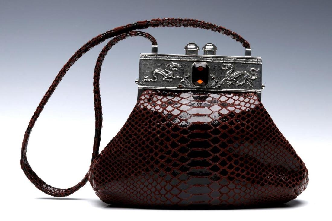 A MOULIN ROUGE EXOTIC LEATHER HANDBAG - 6