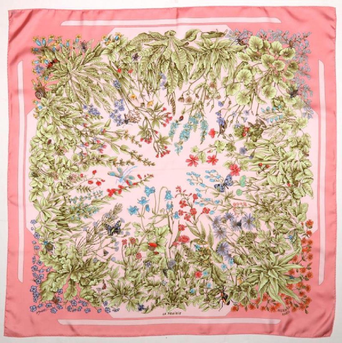 AN HERMES FRENCH DESIGNER SILK SCARF