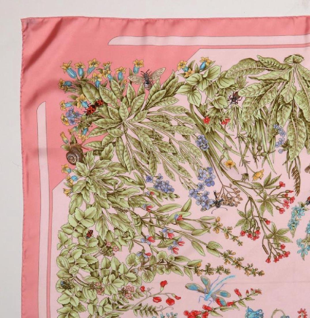 AN HERMES FRENCH DESIGNER SILK SCARF - 4