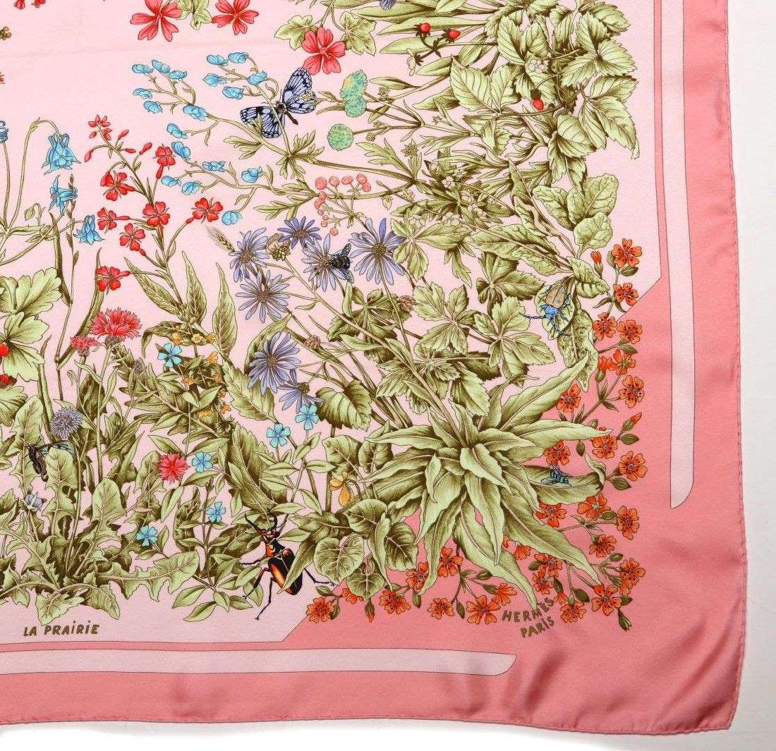 AN HERMES FRENCH DESIGNER SILK SCARF - 6