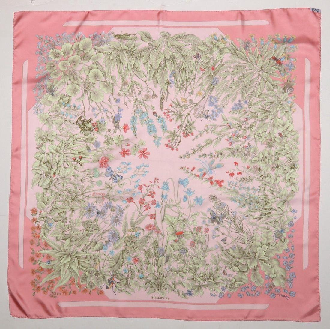 AN HERMES FRENCH DESIGNER SILK SCARF - 9
