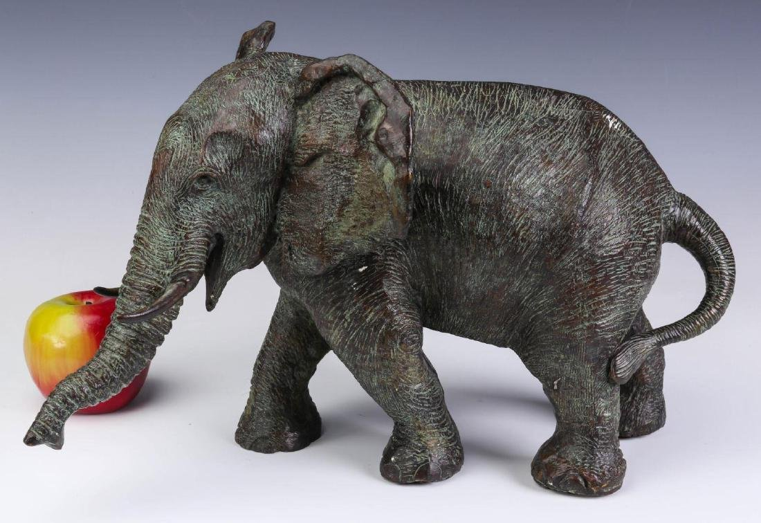A GROUPING OF MAITLAND SMITH BRONZE ELEPHANTS - 2