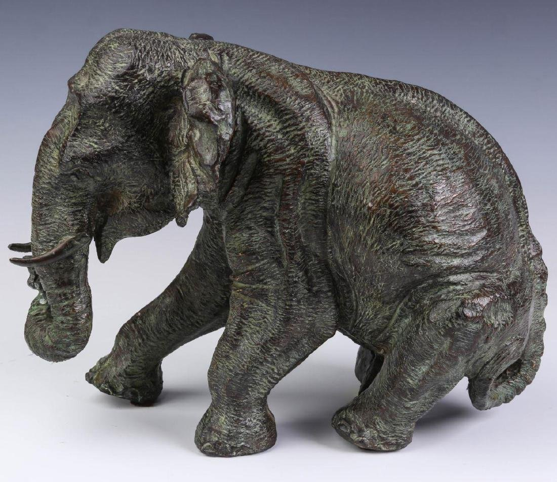 A GROUPING OF MAITLAND SMITH BRONZE ELEPHANTS - 6
