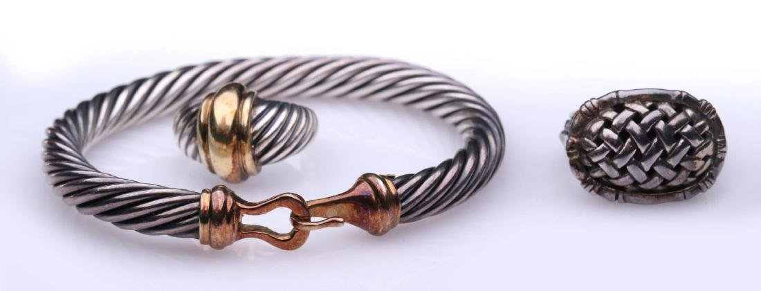 DAVID YURMAN BRACELET AND RING