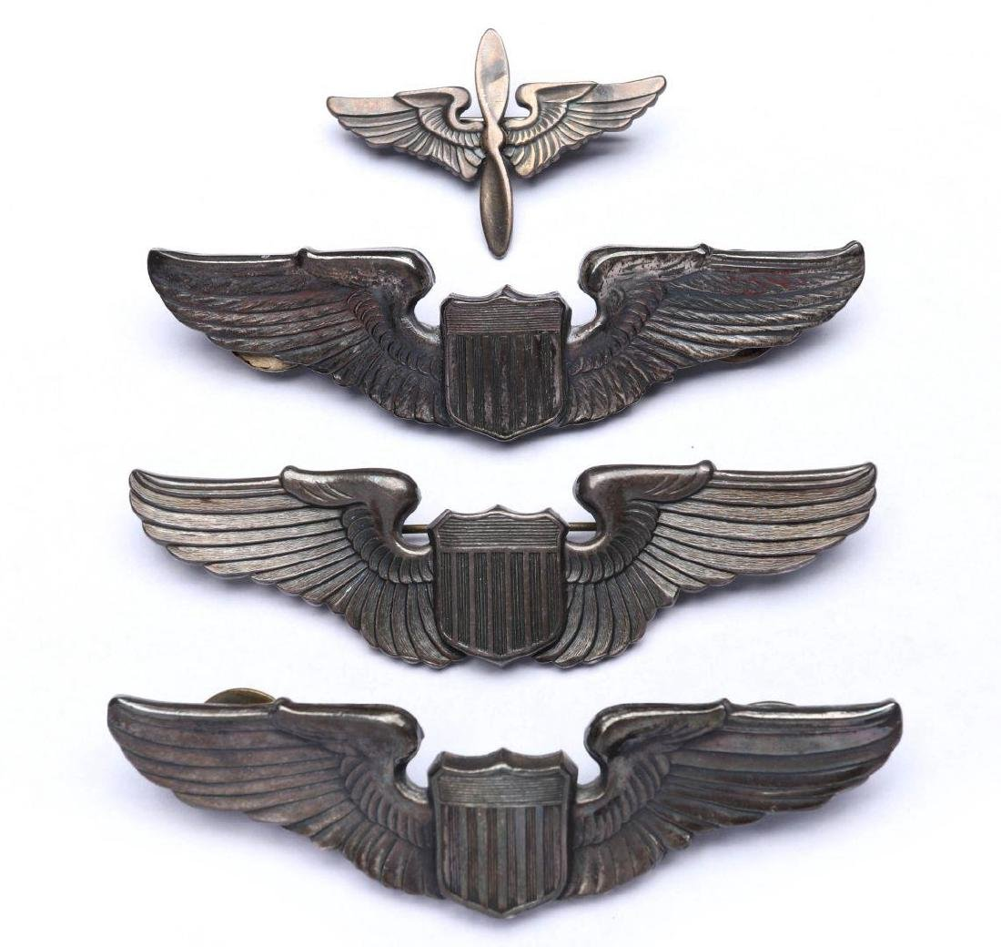 AN ESTATE LOT OF ARMY AIR FORCE WINGS INSIGNIA