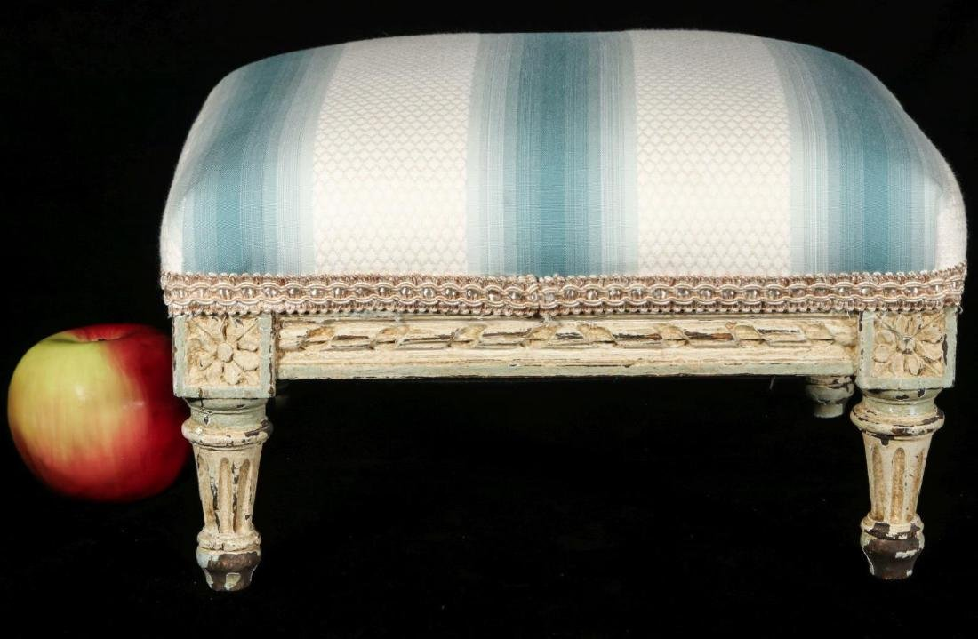 A FRENCH LOUIS XVI STYLE FOOT STOOL - 2