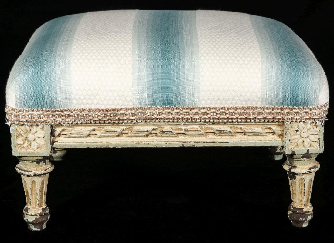 A FRENCH LOUIS XVI STYLE FOOT STOOL - 4