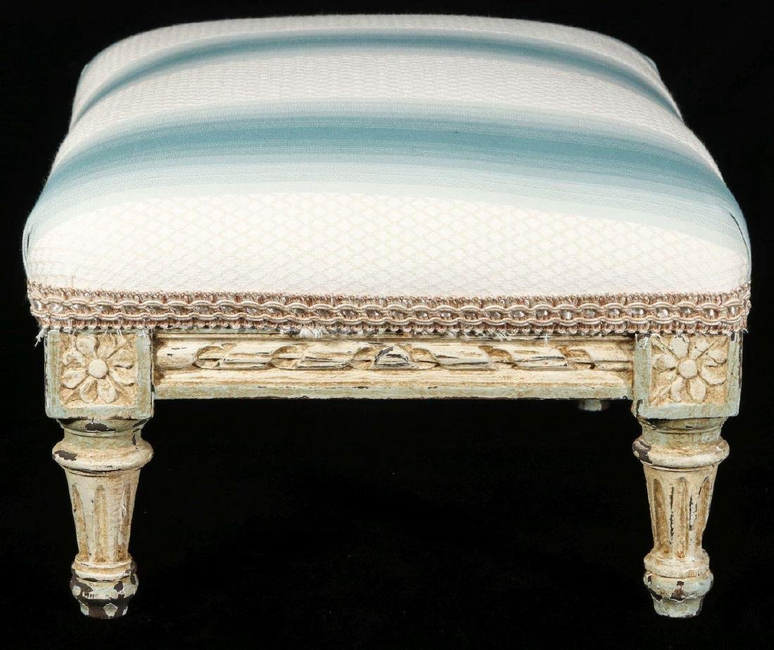 A FRENCH LOUIS XVI STYLE FOOT STOOL - 5