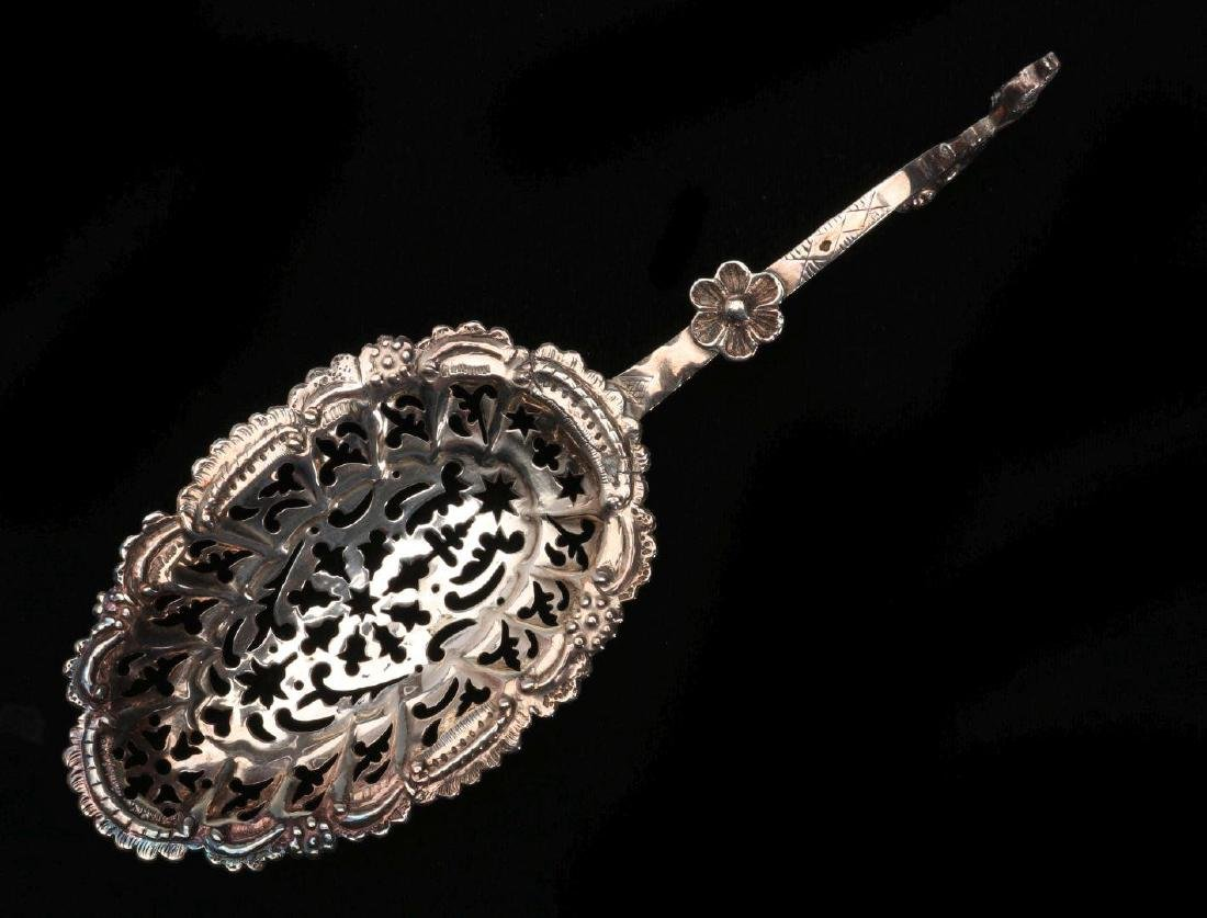 A CONTINENTAL .800 SILVER PIERCED SPOON