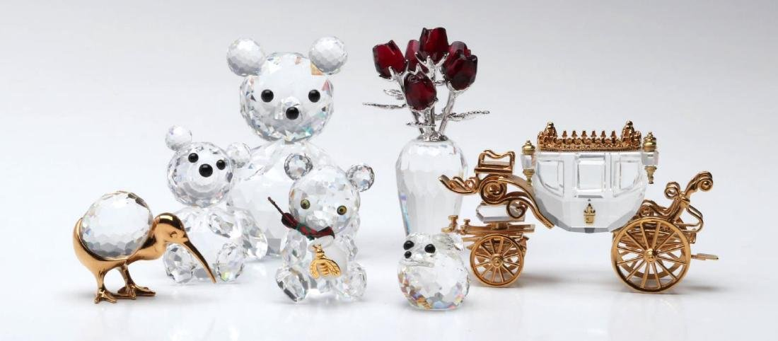 A COLLECTION OF GOOD SWAROVSKI CRYSTAL MINIATURES