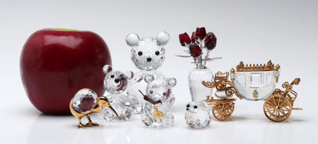 A COLLECTION OF GOOD SWAROVSKI CRYSTAL MINIATURES - 2