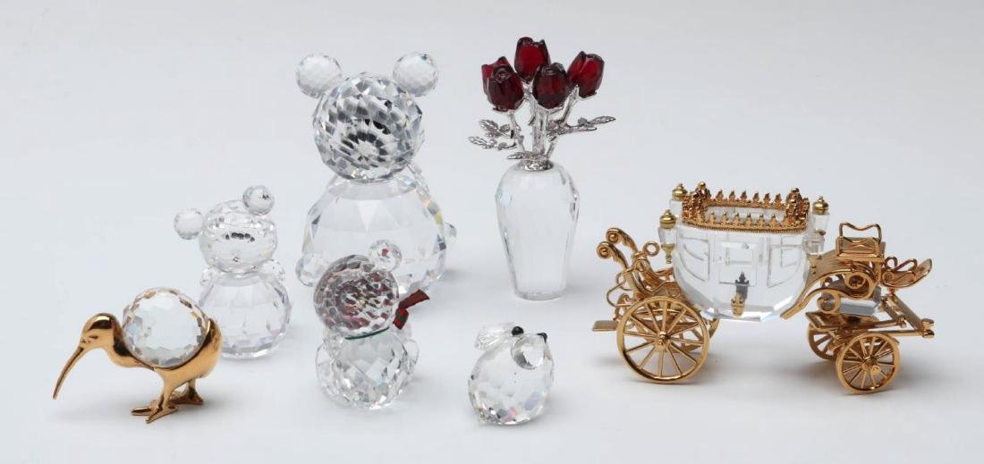 A COLLECTION OF GOOD SWAROVSKI CRYSTAL MINIATURES - 5