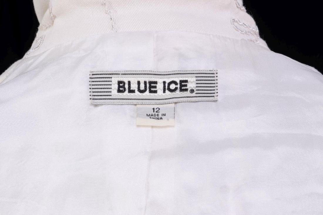 A BLUE ICE WOMEN'S SUIT JACKET AND SKIRT, SIZE 12 - 9
