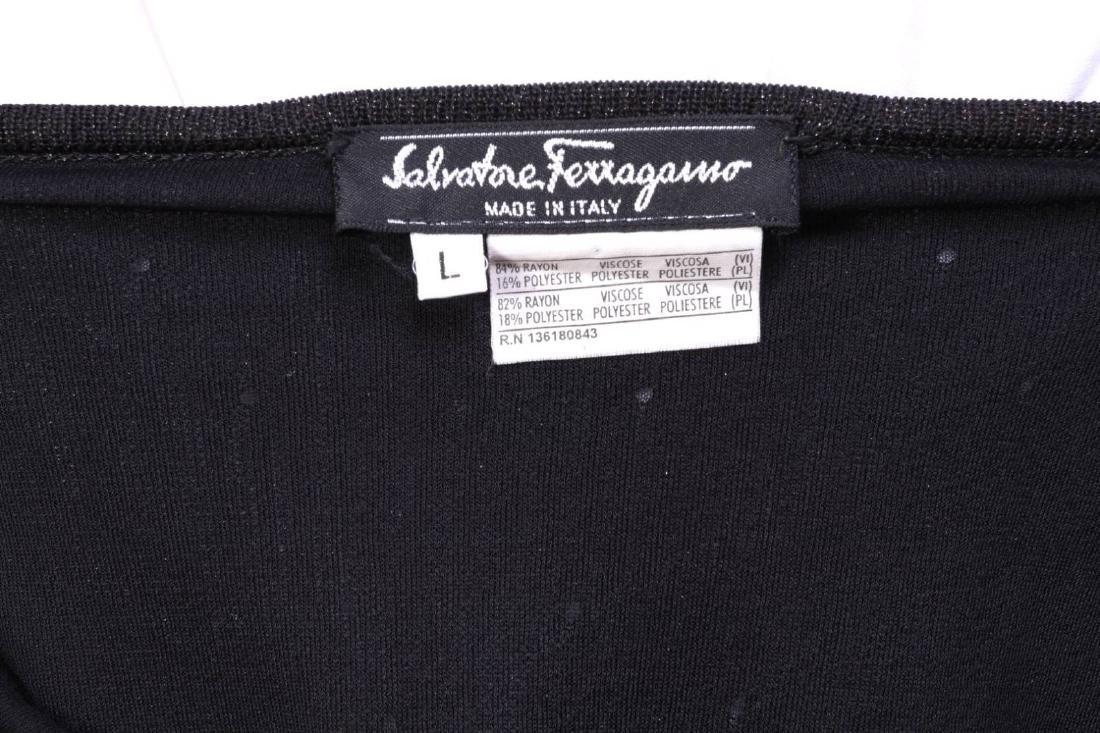 A SALVATORE FERRAGAMO DESIGNER SWEATER AND SKIRT - 8