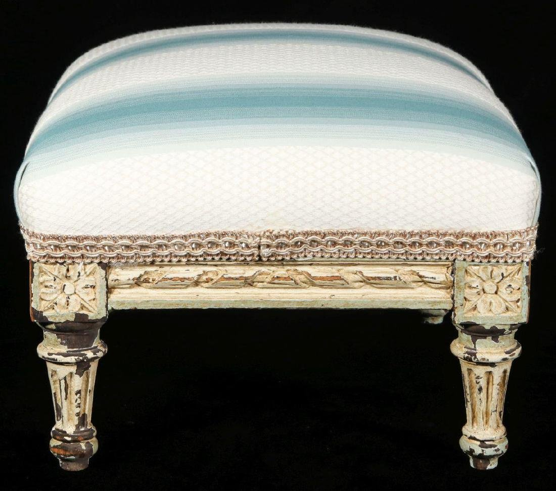 A FRENCH LOUIS XVI STYLE FOOT STOOL - 3