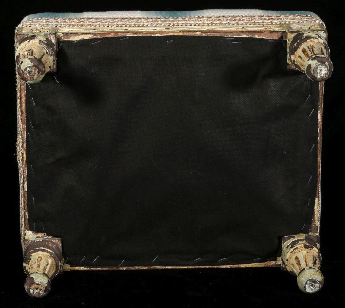 A FRENCH LOUIS XVI STYLE FOOT STOOL - 7